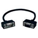 VGA/QXGA HDTV/HD15 Male to Female PortSaver Cable - 18 Inch