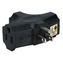 3-Outlet Space-Saver Grounded Power Outlet Splitter