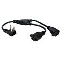 16 Inch 90 Degree Flat-Plug AC Splitter Adapter