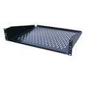 Ventilated Black Finish Rackmount Shelf - 2RU B-Stock (Scratched)