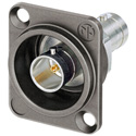 Neutrik NBB75DFGX Grounded 75 Ohm 4K/8K UHD D-Style Chassis Mount BNC Connector