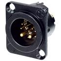Neutrik NC10MD-LX-B DLX Series 10-Pin Receptacle - Male - Solder - Black/Gold