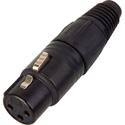 Neutrik NC3FX-B 3-Pin Female XLR Connector Cable End - Black & Gold