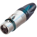 Neutrik NC3FXX-EMC EMI Protected 3 Pin Female XLR Silver/Gold