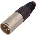 Neutrik NC3MX Male 3-Pin XLR Connector - Nickel/Silver