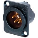 Neutrik NC4MD-LX-B 4 Pole Male XLR - Black/Gold