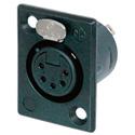 Neutrik NC5FP-BAG-1 5-Pole Female XLR Solder Contacts Silver / Black Housing