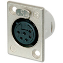 Neutrik NC6FSP-1 6 Pole Female Receptacle - Nickel/Silver