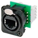 Neutrik NE8FDV-Y110-B EtherCon Vert IDC110 Punchdown Panel Mt Jack D Shape Black