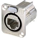 Neutrik NE8FDX-Y6 D-shape CAT6A Panel Connector - Shielded/ IDC termination/ Nickel Housing
