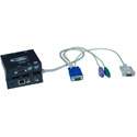 NTI ST-C5KVMRS-600 VGA PS/2 KVM Extender with RS232 via CATx to 600 feet