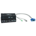 NTI ST-C5USBVUA-1000S Hi-Res USB KVM Extender with Additional USB Port & Audio via CATx to 1,000 Feet