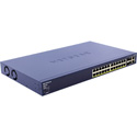 Netgear FS728TP-100NAS 24 Port 10/100 Smart Switch with PoE 24 x 10/100Base-TX / 2 x 10/100/1000Base-T / 2 x 10/100/1000