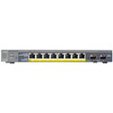Netgear GS110TP ProSafe 8-port Gigabit PoESmart Switch with 2 Gigabit Fiber SFP