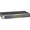 NetGear JGS524PE-100NAS ProSAFE Plus Rackmount 24-Port Gigabit PoE Web Managed Switch with 12 PoE Ports