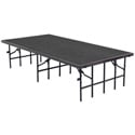Portable Stage with Carpet 48Wx96Lx8H - Grey