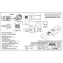 OCC OCCSFP6A Cat 6A Shielded Field Terminable Plug