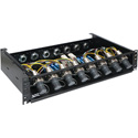 OCC RC2U88LSISP02R88A Broadcast SMPTE 8x8 Splice Enclosure with LEMO Socket and 6.35-9.65 Cable Gland