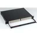 OCC RTC1UB-48SMDSTSC 1RU Enclosure with ST to SC Adapters - RTC Fiber Tray - 48 Port - Dual ST/Dual SC - Singlemode