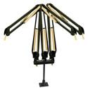 O.C. White 61900-3-BG ProBoom Elite 3 Arms Triple Riser Black and Gold