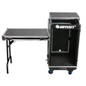 Odyssey FRGS1016WDLX Glide Style 10 Space x 16 Space Combo Rack with Wheels and Side Table