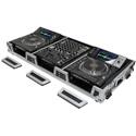 Odyssey FZ12CDJWXD Extra Deep DJ Coffin w/ Wheels for a 12 In. Format DJ Mixer & 2 Large Format CD/Digital Media Players