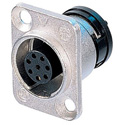 Neutrik ORP8F-Ni 8 Pole Female Chassis neutriCON Connector - Solder Contacts Nickel Housing