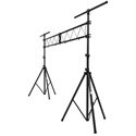 On-Stage Stands LS9790 On-Stage Lighting Stand with 10 Foot Truss - Steel - Black