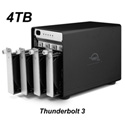 OWC OWCTB3SRT04.0S 4.0TB ThunderBay 4 Four-Drive HDD with Dual Thunderbolt 3 Ports RAID-5 Preconfigured Solution