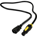 Laird PAC-IECM2T1F 14/3-SJ 15A powerCON TRUE1 Female to Molded IEC Male Power Adapter Cable - 3 Foot