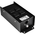 Laird PAC-T1MACX5 TRUE1 In & 4 Breakered NEMA 5-15 Outlets Power Breakout Box with TRUE1 Female Pass Through