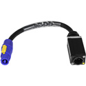 Laird PAC-T1MFCA 12/3-SJ 20A powerCON TRUE1 Male Chassis to Type A powerCON Power Adapter Cable - 1 Foot