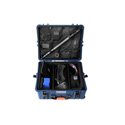 Portabrace PB-2750DKAUD Airtight Hard Case with Wheels and Padded Divider Kit - Extra Large - Blue