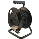 4 Outlet AC Cable Reel with 50ft 14-3 SJTW Power Cord