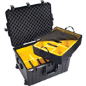 Pelican 1637 Air Case with Logo and Padded Dividers - Black
