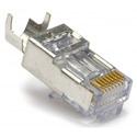Platinum EZ-RJ45 Shielded Cat 5e/6 Connectors w/External Ground - 50/Clamshell