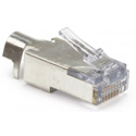 Platinum Tools 100023C EZ-RJ45 CAT5/5e/6 Shielded Connectors w/ External Ground - Solid or Stranded - 10 Pack Clamshell