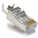 Platinum Tools 105022 EZ-RJ45 CAT5/5e/6 Shielded Connectors w/ External Ground - Solid or Stranded - 100 Pack