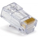 Platinum Tools 202010J EZ-RJ45 CAT6 Connectors for Solid or Stranded Conductors - 100 Pack