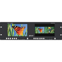 Plura LCM-207-3G Dual 7-Inch LED 3G HD-SDI / HDMI Rackmount Video Monitor