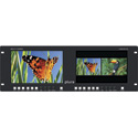 Plura LCM-209-3G Dual 9-Inch LED 3G HD-SDI / HDMI Rackmount Video Monitor