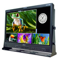 Plura MVM-124 24-Inch 4-Channel HD-SDI Broadcast Monitor Class A w/Multiviewer