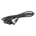 Plura PBM-12VMXLR 12V Mini XLR & Power Tap Cable - Use with  Anton Bauer & Sony Batteries for 7 - 9 - 10 Inch