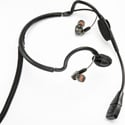 Point Source Audio CM-i3-5Ms Dual In-Ear Intercom Headset with 5-Pin Male XLR Wi