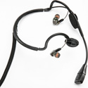 Point Source Audio CM-i3-5Ms Dual In-Ear Intercom Headset with 5-Pin Male XLR Wired for Stereo Use