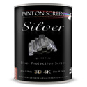 Paint On Screen G00SILVER .999 Pure Silver Infused Paint On Projection Screen - 1 Gallon