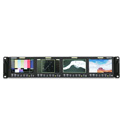 Postium PRM-434A Quad 4.3 Inch HD/SD-SDI LCD 2RU Rackmount Monitors with Waveform/ Vectorscope/ Timecode & Audio Meters