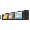 Postium PRM-503A Triple 5 Inch HD/SD-SDI LCD 3RU Rackmount Monitors with Waveform/ Vectorscope/ Timecode & Audio Meters