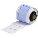Brady PSPT-375-1-WT 1.015W x 0.645H PermaSleeve Heat Shrink Wire Markers - White