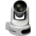 PTZOptics 20X Optical Zoom - NDI HX 3G-SDI HDMI CVBS IP Streaming - 60.7 Degree FOV (White with US Power Supply)